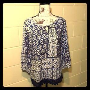 Christopher Banks blue /white tunic
